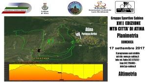 Altimetria Planimetria MTB Atina 17 settembre 2017